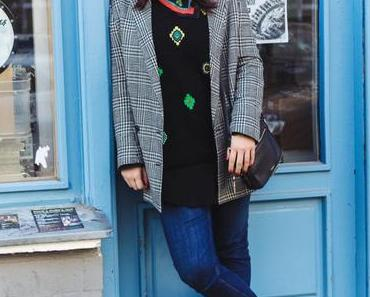 Outfit mit Kenzo Pullover, Adidas Stan Smith Sneakers und Fossil Bag