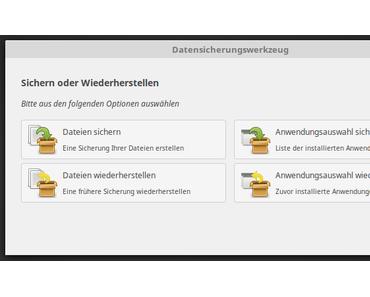 Das Linux Mint Datensicherungswerkzeug