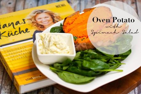 #foodinspo - Oven Sweet Potato with Spinach Salad {Hayes Küche}
