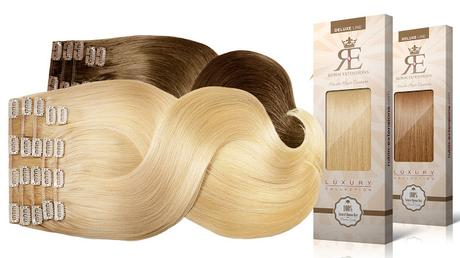 Clip-in Extensions in braun und blond