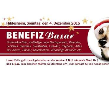Benefiz-Basar am Sonntag, den 4.12.2016