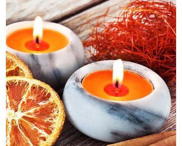 Weihnachtsgeschenk zum selber machen (3): Wunderbare Orangen-Zimt-Kerzen