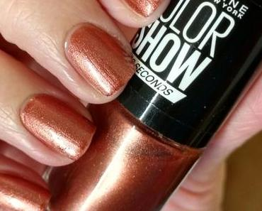 [Nails] Lacke in Farbe ... und bunt! KUPFER mit MAYBELLINE COLOR SHOW 465 BRICK SHIMMER
