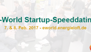 Speeddating Energie-Startups E-world 2017