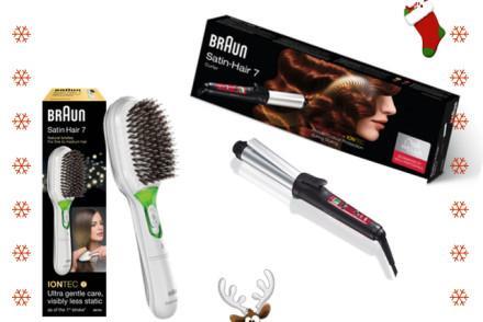 Braun Giveaway Satin Hair Elektrische Haarbürste Satin Hair Curler