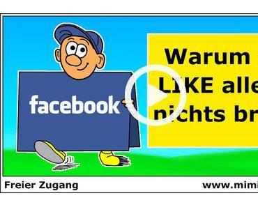 Facebook: Ein Like alleine nützt dir gar nichts