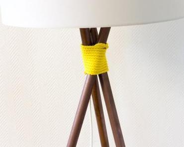 DIY Stehlampe im Kupfer-Look für Do It + Garden
