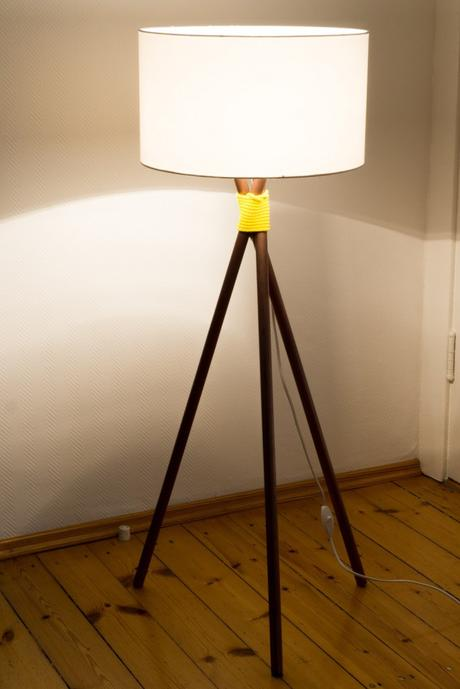 diy stehlampe im kupfer look f r do it garden. Black Bedroom Furniture Sets. Home Design Ideas
