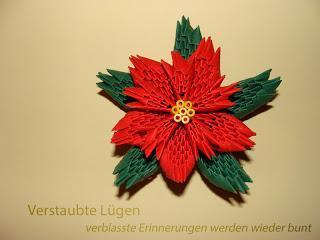 3D  Origami - Weihnachtsstern