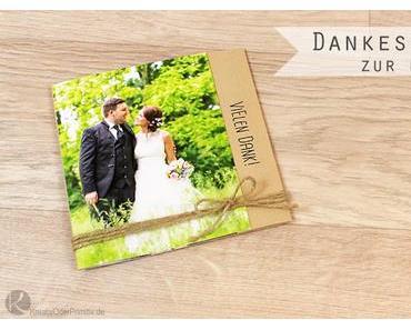 Dankeskarten & Danke-Fotobuch zur Hochzeit