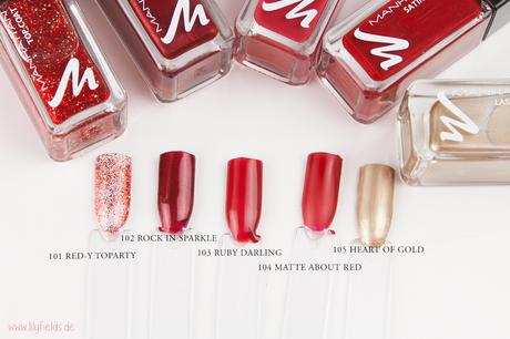 Manhattan - Glam Red - Christmas Edition - Nagellack Swatche