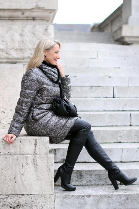 Down coat & winter boots