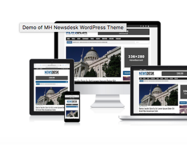 Türchen Nr. 19: MH Newsdesk WordPress Magazin Theme