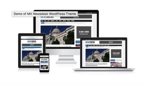 Türchen Nr. 19: MH Newsdesk WordPress Magazin Theme