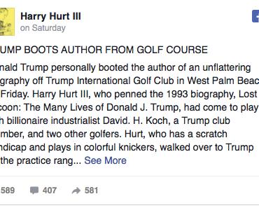 Rachsüchtig: Donald Trump warf Biografen von seinem Golfplatz