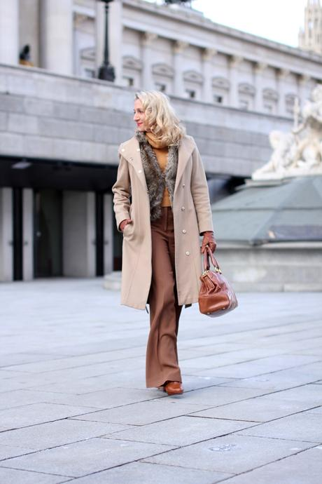 Monochrome outfit in brown