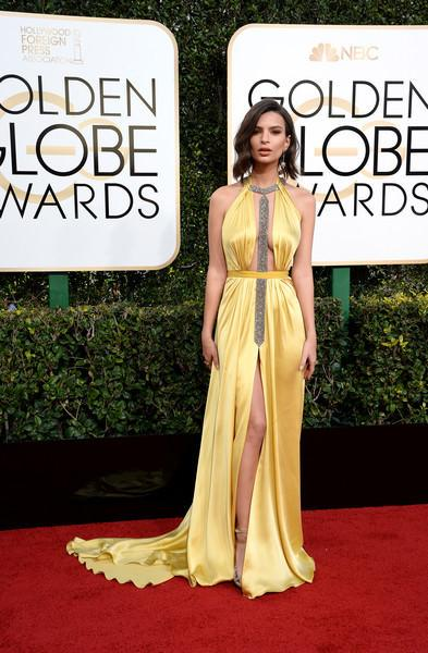 Emily Ratajkowski attends the 74th annual Golden Globe Awards in Beverly Hills