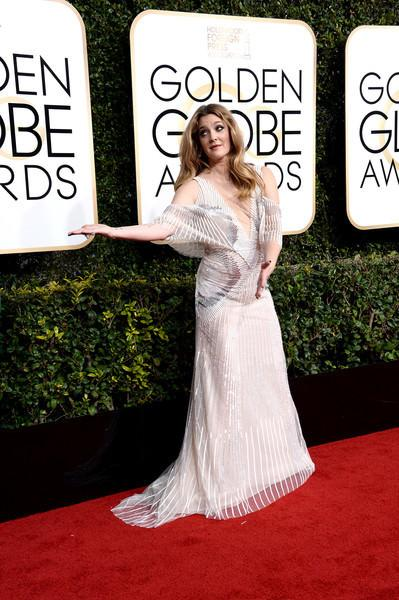 Drew Barrymore attends the 74th annual Golden Globe Awards in Beverly Hills