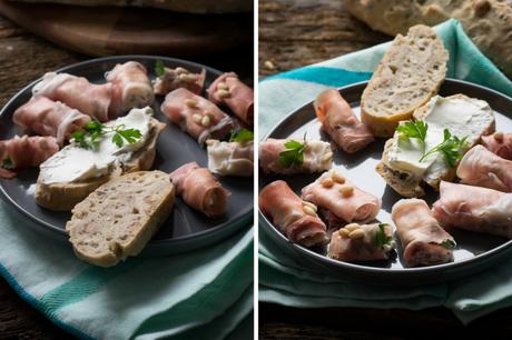 Italienischer Abend mit Ciabatta und Parmaschinken