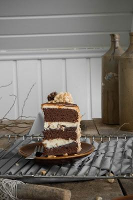 Erdnuss Karamell Torte nach Snickers Art  / Snickers Cake Recipe