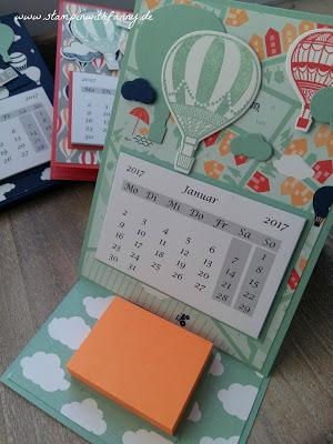 Make&Take #1 von meiner Katalogparty: Minikalender mit Post-It