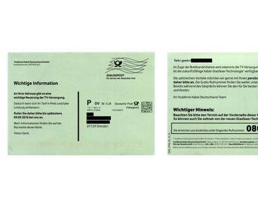 Irreführende Werbe-Postkarten von Vodafone