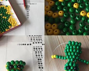 Perlenkrokodil-reloaded – oder – Geschickt aufgefädelt: Ein Krokodil aus Perlen