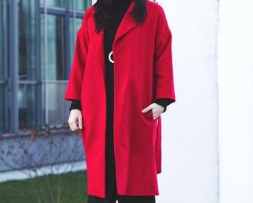 Trendfarbe Rot: Der rote Mantel als Statement-Piece im Winter