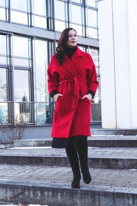 Statement rote Mantel im Trendfarbe als Winter Piece RotDer F1cJTlK