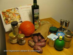 Ofengemüse mit Honig-Senf-Dip