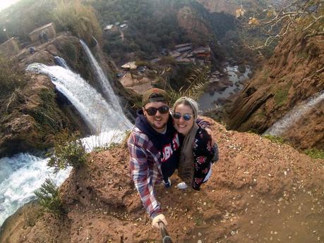 Ouzoud-wasserfall-marokko-selfie