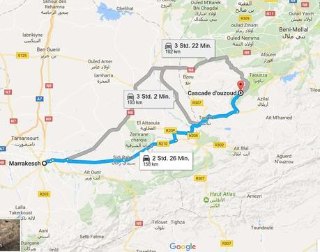 Fahrt-von-Marrakesch-nach-Ouzoud-marokko-wasserfall-straße-roadtrip