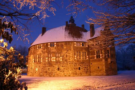Foto: Burg Vischering in Lüdinghausen im Winter