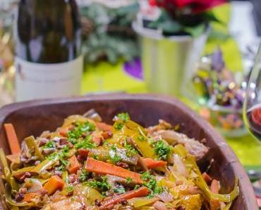 """Coq au vin – wie von Paul Bocuse, aber aus dem """"Römertopf"""""""