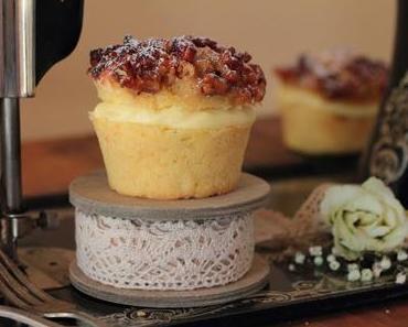 Bienenstich Walnuss - Pecan Vanillepudding Cupcakes