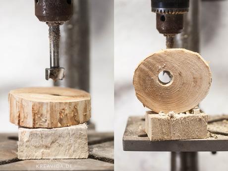 DIY : Schicke Lampe aus Holz selber bauen