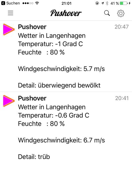 Wie kann eine Pushover Nachricht mit dem aktuellen Wetter von OpenWether jeden Tag mit Node-Red und Raspberry Pi an das Handy und Tablet versandt werden?