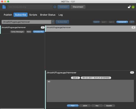 MQTT.fx 1.3.1 Java Client für Windows, Mac OS, Unix vor ein paar Tagen veröffentlicht
