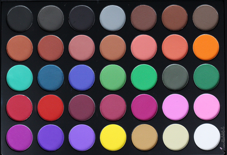|Review| Morphe Brushes 35C Multi Color Matte Palette & Look