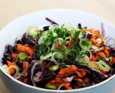 Karotten-Rotkrautsalat