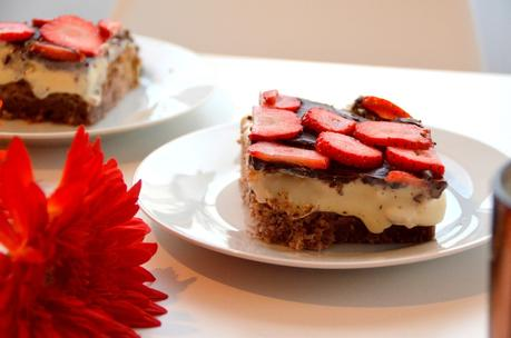 Himmlischer Erdbeer Pudding Kuchen Thermomix