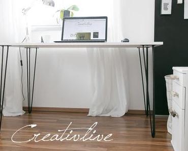 Arbeitszimmer make over und neuer Tisch mit Hairpin-Beinen