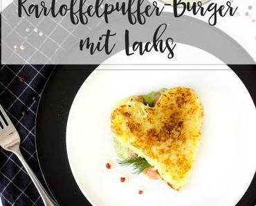 Kartoffelpuffer-Burger mit Lachs