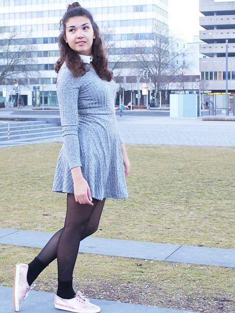The Gray Skater Dress
