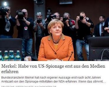 NSA-Skandal: Merkel macht auf dumm und der Rest macht auf dümmer