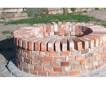 DIY Ziegelbrunnen aus alten Baumaterialien selbst bauen