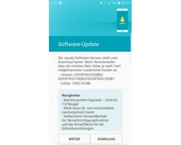 Samsung Galaxy S7 edge: Android 7.0 Nougat ab sofort in der Schweiz verfügbar!