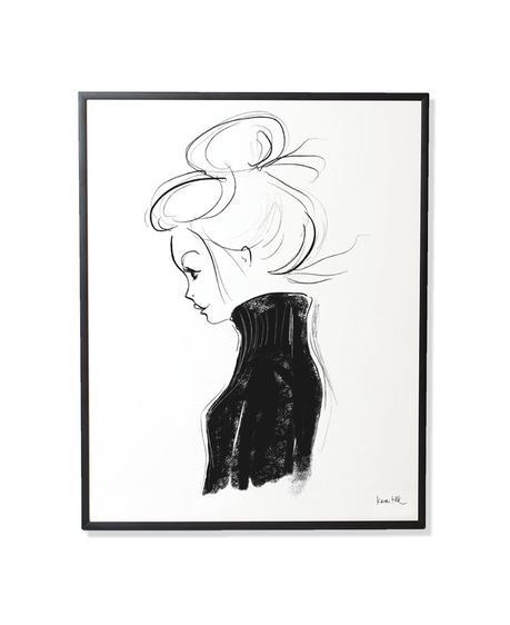 """Ein wunderschönes Bild von einer Frau, die selbstbewußt nach vorne schaut. """"Col Roulé I ist ein lichtbeständiger Druck mit Pigmenttinten auf warmweißen, matt gestrichenem Lithopapier (230gramm) im schwarzen Rahmen. Hier gehts zum SHOP!"""