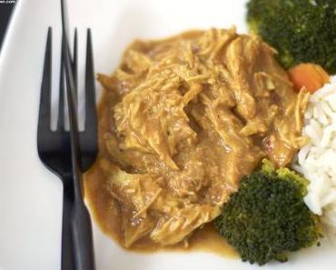 Slowcooker #3 - Pulled Chicken in Erdnusssauce