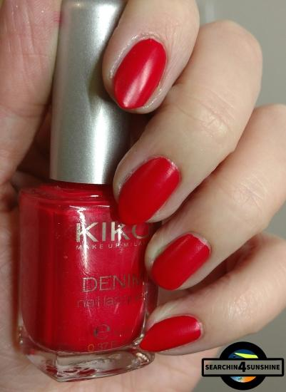 [Nails] KIKO DENIM nail lacquer 461 Art Poppy Red mit Totenköpfen